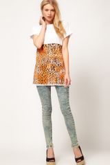 Asos Collection Asos Tshirt in Animal Block Print in White - Lyst