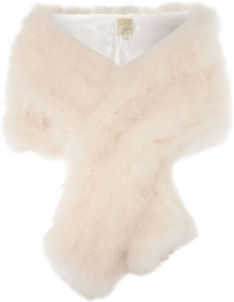 Biba Marabou Feather Stole in White (ivory) - Lyst