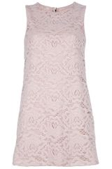 Dolce & Gabbana Lace Sleeveless Dress in Beige (nude) - Lyst