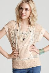 Free People Top Pieced Lace - Lyst