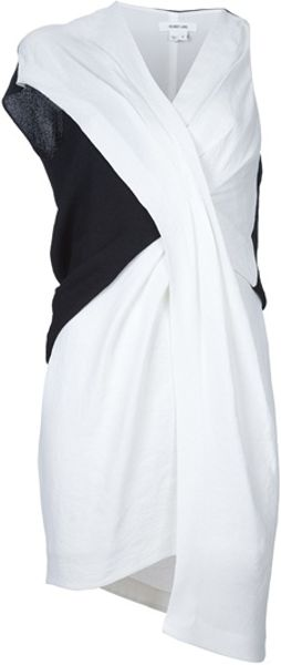 Helmut Lang Tex Panel Dress in Black - Lyst