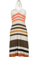 L'Agence Striped Stretchjersey Dress - Lyst