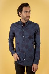 Libertine Libertine Hunter Shirt Sparrow Blackblue - Lyst