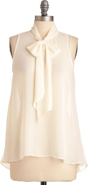 Modcloth Sheer Style Top in White in White - Lyst
