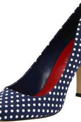 Nine West Nine West Womens Ambitious Pump in Blue (navy/white fabric) - Lyst