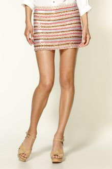 Parker Tribal Beading Silk Skirt - Lyst