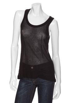 Rag & Bone/knit Sheer Ribbed Tank - Lyst