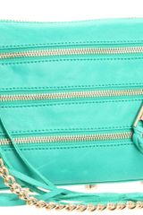 Rebecca Minkoff Mini 5 Zip Clutch in Green (bright green) - Lyst