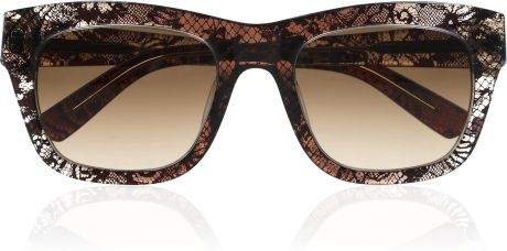 Valentino Dframe Laceprint Acetate Sunglasses in Black - Lyst