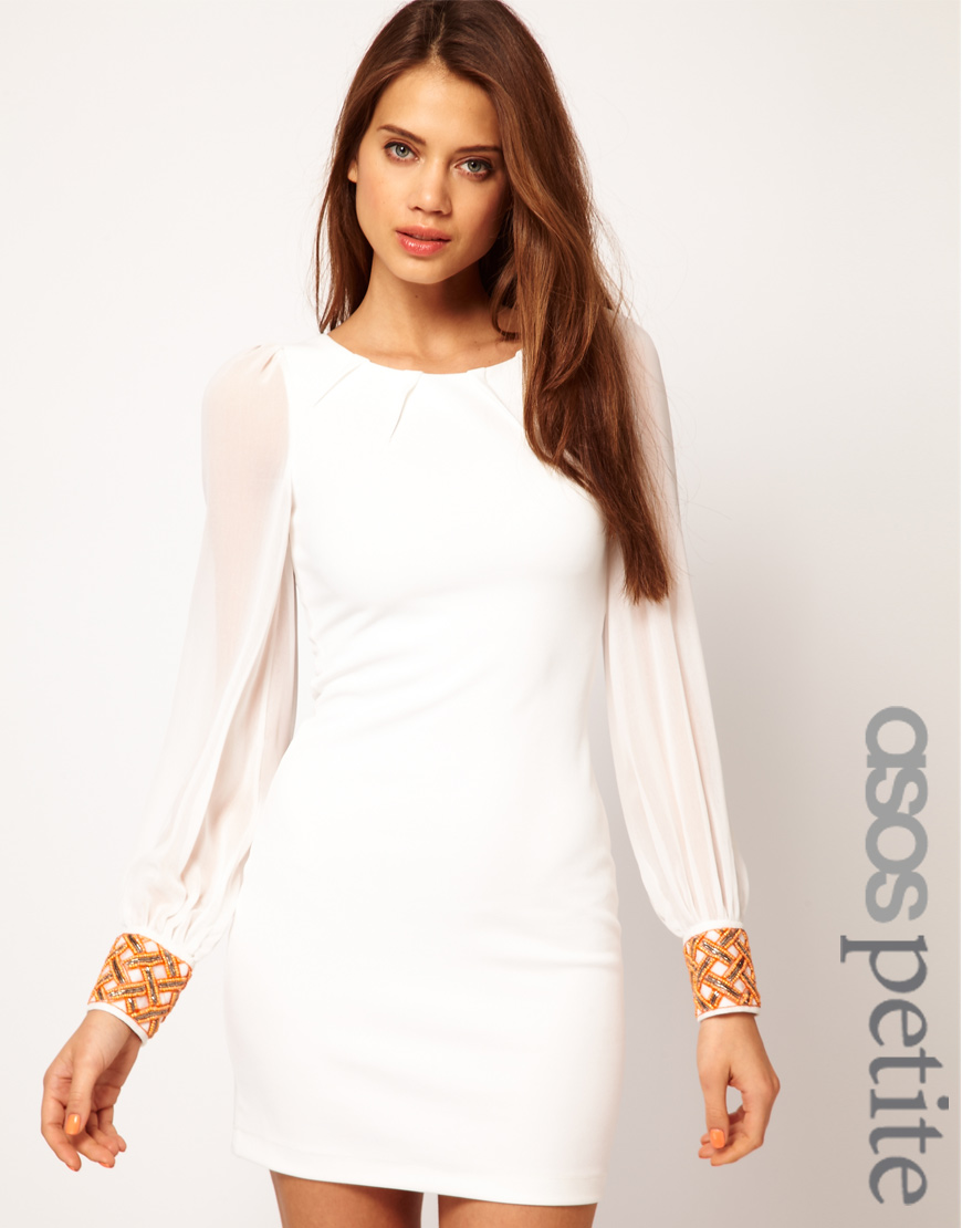 f73e865f9226 ASOS Collection Asos Petite Exclusive Bodycon Dress with Embellished ...