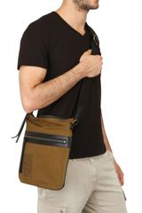 Burberry Front Zip Crossbody Bag in Beige for Men - Lyst