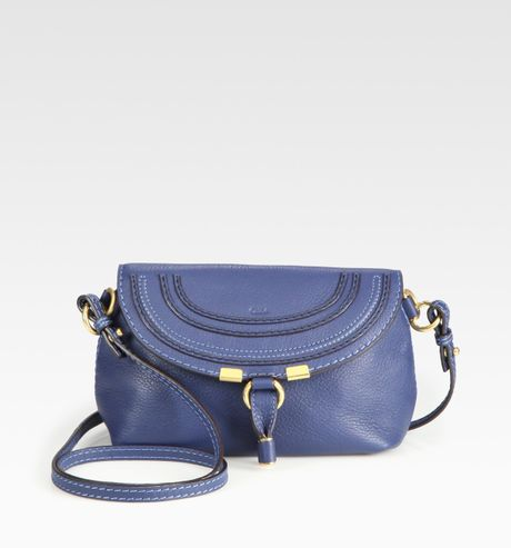 Chloé Marcie Crossbody Bag in Blue (royal) - Lyst