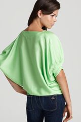 Diane Von Furstenberg Top Exclusive Edna in Green (spring leaf) - Lyst