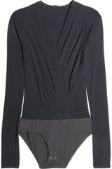Donna Karan New York Finejersey Bodysuit - Lyst