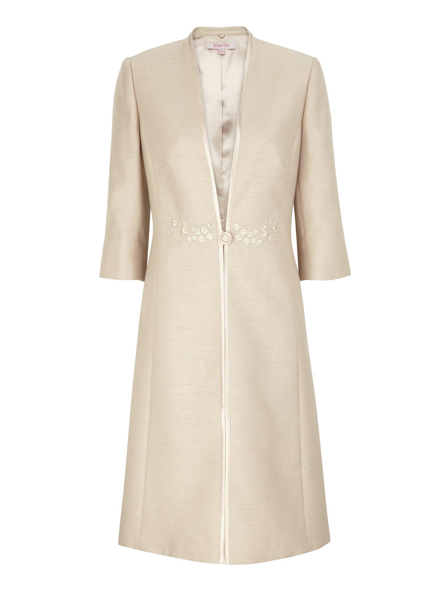 Jacques Vert Sandstone Dress Coat in Beige (cream) | Lyst Victoria Beckham Dresses