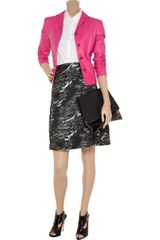 Jil Sander Leather Jacket in Pink - Lyst