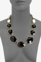 Kate Spade Dual Color Graduated Necklace in Black - Lyst