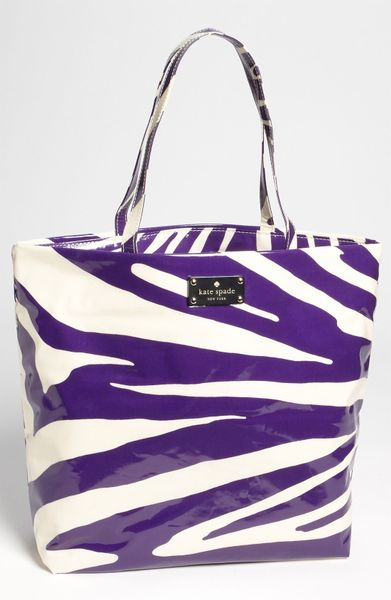Kate Spade Daycation Coated Canvas Bon Shopper in Purple (purple zebra) - Lyst