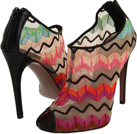 Missoni Peep Toe Bootie Mesh in Multicolor (v) - Lyst