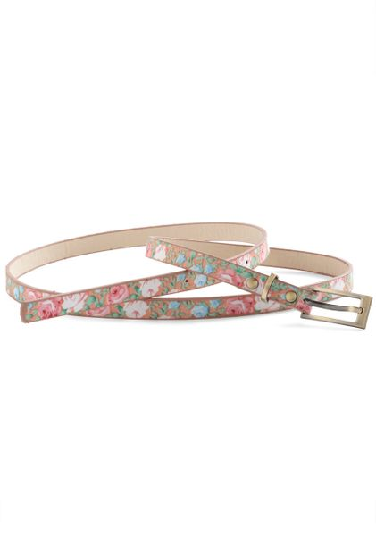 Modcloth Nature Walk The Walk Belt in Pink in Pink - Lyst