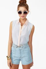 Nasty Gal Brie Denim Shorts - Lyst