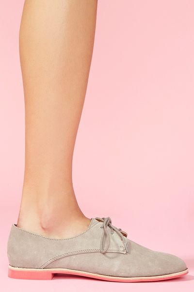 Nasty Gal Mini Oxford Gray in Gray - Lyst