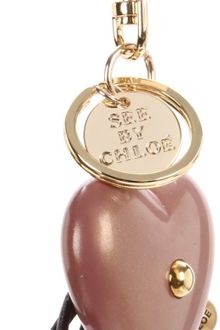 See By Chloé See By Chloe Cherry Heart Key Chain - Lyst