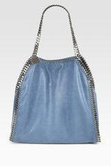Stella Mccartney Shaggy Deer Baby Falabella Shoulder Bag in Blue (teal) - Lyst