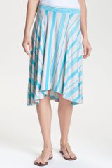 Stem Asymmetrical Hem Midi Skirt - Lyst