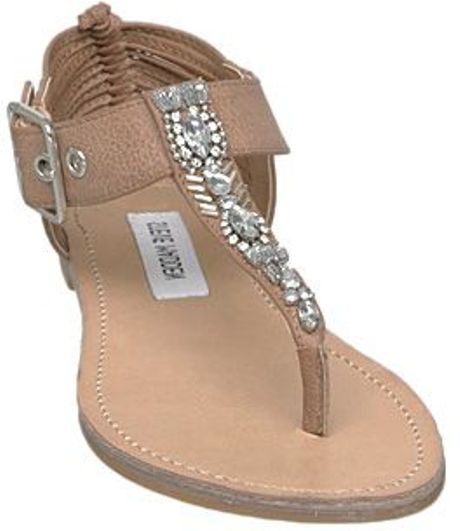 Steve Madden Starzzz Sm Embellished T Bar Flat Sandals In