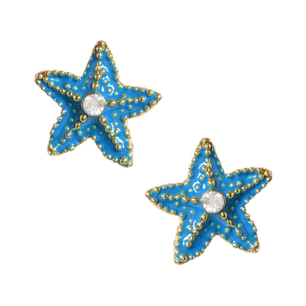 Betsey Johnson Turquoise Starfish Stud Earrings In Blue Lyst