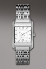 Burberry Check Stainless Steel Watch - Lyst