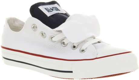 Converse All Star Ox Low Double Tongue Whtblured Smu in White for Men (blu) - Lyst