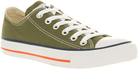 Converse All Star Ox Low Khakired Canvas in Green for Men (khaki) - Lyst