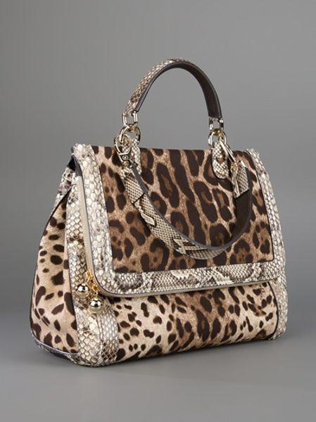 dolce amp gabbana animal print bag in brown animal lyst