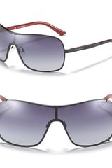 Emporio Armani Metal Gradient Shield Sunglasses - Lyst