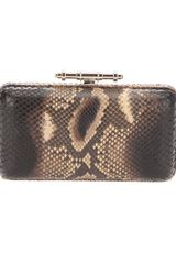 Givenchy Structured Clutch in Brown - Lyst