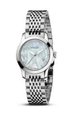 Gucci Gtimeless Collection Stainless Steel Watch with Motherofpearl and Diamonds 27 Mm - Lyst