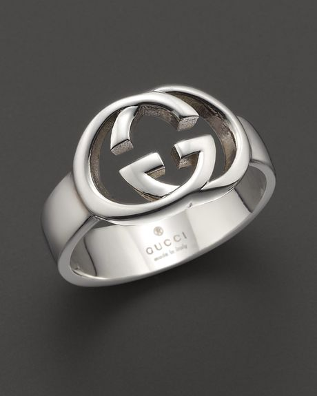 Gucci Sterling Silver Britt Ring In White No Color Lyst