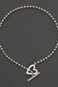 Gucci Sterling Silver Toggle Heart Necklace 16 L - Lyst