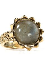 House Of Harlow Pyramid Spike Labradorite Ring - Lyst
