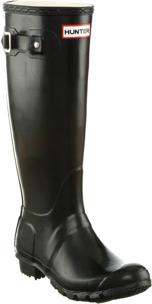 Hunter Original Welly Womens Black in Black - Lyst