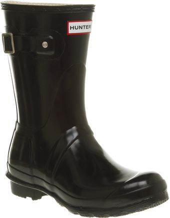 Hunter Short Classic Welly Black Gloss - Lyst