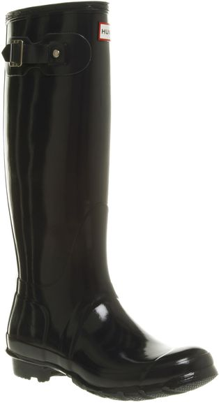 Hunter Original Welly Womens Navy Gloss - Lyst