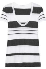 James Perse Striped Jersey Tshirt - Lyst