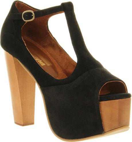 Jeffrey Campbell Foxy Heel Platform Sandals in Black - Lyst