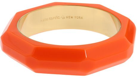 Kate Spade Triple Threat Faceted Bangle in Orange (f) - Lyst