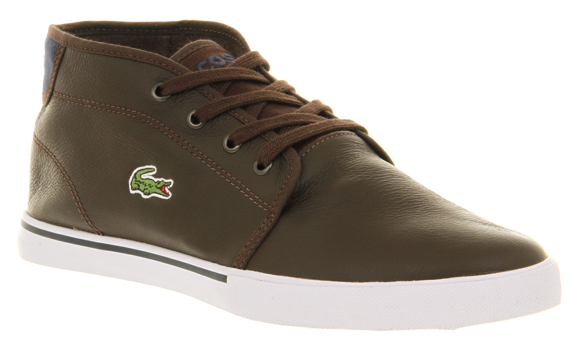 56780a764327f Lyst - Lacoste Ampthill Brown Leather in Brown for Men