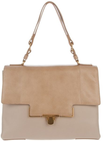 Lanvin Miss Sartorial Bag in Beige - Lyst