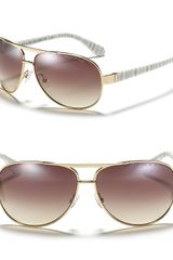Marc By Marc Jacobs Metal Aviator Sunglasses with Plastic Temple - Lyst